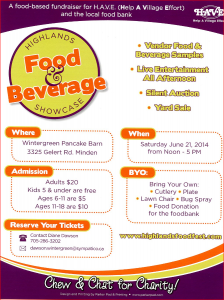 Highlands Food and Beverage Showcase to raise money for HAVE